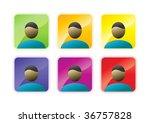 avatar icon set | Shutterstock .eps vector #36757828