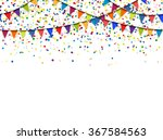 Seamless Colored Garlands And...