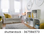 white sofa in stylish  light... | Shutterstock . vector #367586573