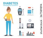 vector diabetes infographic... | Shutterstock .eps vector #367589894