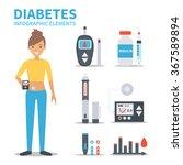 vector diabetes infographic... | Shutterstock .eps vector #367589894
