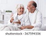 senior lovers in bed   romance...   Shutterstock . vector #367594106