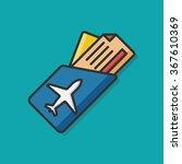 airplane ticket vector icon | Shutterstock .eps vector #367610369