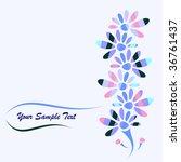 floral background | Shutterstock .eps vector #36761437