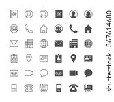contact icons  included normal... | Shutterstock .eps vector #367614680