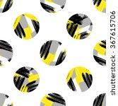 circle brushstrokes seamless... | Shutterstock .eps vector #367615706
