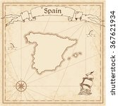 spain old treasure map. sepia... | Shutterstock .eps vector #367621934