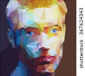 low poly abstract portrait man. ...   Shutterstock .eps vector #367624343