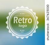 white retro logo on blured... | Shutterstock .eps vector #367625030