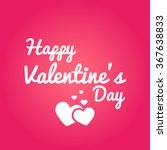 happy valentine's day vector | Shutterstock .eps vector #367638833