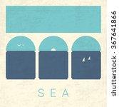 vector minimal poster  sea | Shutterstock .eps vector #367641866