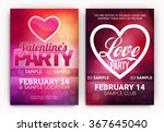 set of valentine's day party... | Shutterstock .eps vector #367645040