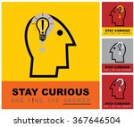 stay curious   find the answer. ... | Shutterstock .eps vector #367646504