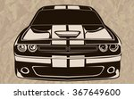 old school muscle cars inspired ... | Shutterstock .eps vector #367649600