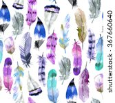 Watercolor Fantastic Feathers...
