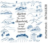 mountain landscape. hand drawn... | Shutterstock .eps vector #367661828