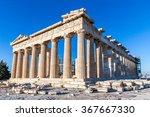 parthenon in acropolis  athens  ... | Shutterstock . vector #367667330