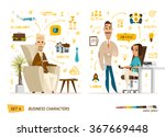 business characters set | Shutterstock .eps vector #367669448