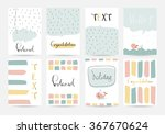 light pink blue yellow... | Shutterstock .eps vector #367670624