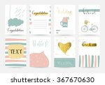 light pink blue collection for... | Shutterstock .eps vector #367670630