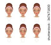 correct application of blush... | Shutterstock .eps vector #367671830