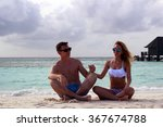 he and she on the beach | Shutterstock . vector #367674788