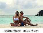 he and she on the beach | Shutterstock . vector #367676924