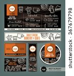 coffee bakery shop cafe set... | Shutterstock .eps vector #367679798