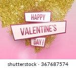 valentine's day banner.... | Shutterstock .eps vector #367687574