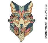 fox vector illustration.hand... | Shutterstock .eps vector #367691813