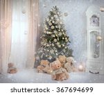 christmas tree in the interior | Shutterstock . vector #367694699