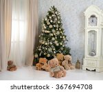 christmas tree in the interior | Shutterstock . vector #367694708
