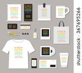 corporate identity template set....   Shutterstock .eps vector #367695266