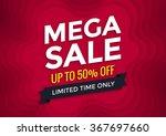 mega sale banner design  vector ... | Shutterstock .eps vector #367697660