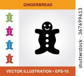 vector icon of gingerbread with ...
