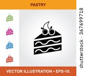 vector icon of with cake pastry ... | Shutterstock .eps vector #367699718