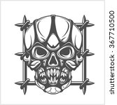 demon scary skull isolated on... | Shutterstock .eps vector #367710500