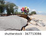 two civil engineer check beach... | Shutterstock . vector #367713086