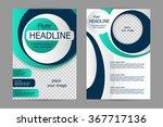 vector flyer template design....   Shutterstock .eps vector #367717136