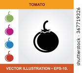 vector icon of tomato with... | Shutterstock .eps vector #367719326