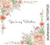 flower wedding invitation card  ...   Shutterstock . vector #367720910