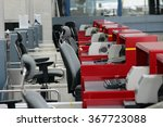 empty airport check in counter... | Shutterstock . vector #367723088