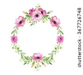 floral wreath  | Shutterstock . vector #367726748