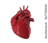 3d rendered human heart... | Shutterstock . vector #367730444