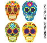 sugar skull | Shutterstock .eps vector #367733093