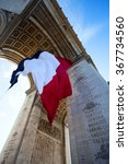 arc de triomphe with french... | Shutterstock . vector #367734560