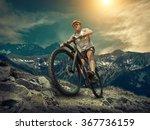 man in helmet and glasses stay...   Shutterstock . vector #367736159