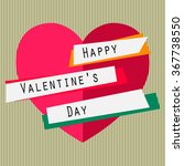 happy valentines day card with... | Shutterstock .eps vector #367738550