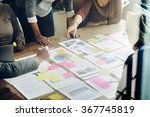 business team meeting project... | Shutterstock . vector #367745819