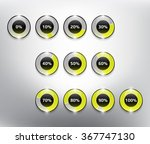 loading spinners or progress... | Shutterstock .eps vector #367747130